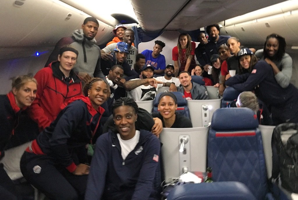 U.S.A. Basketball is on a cruise ship but not getting sea sick