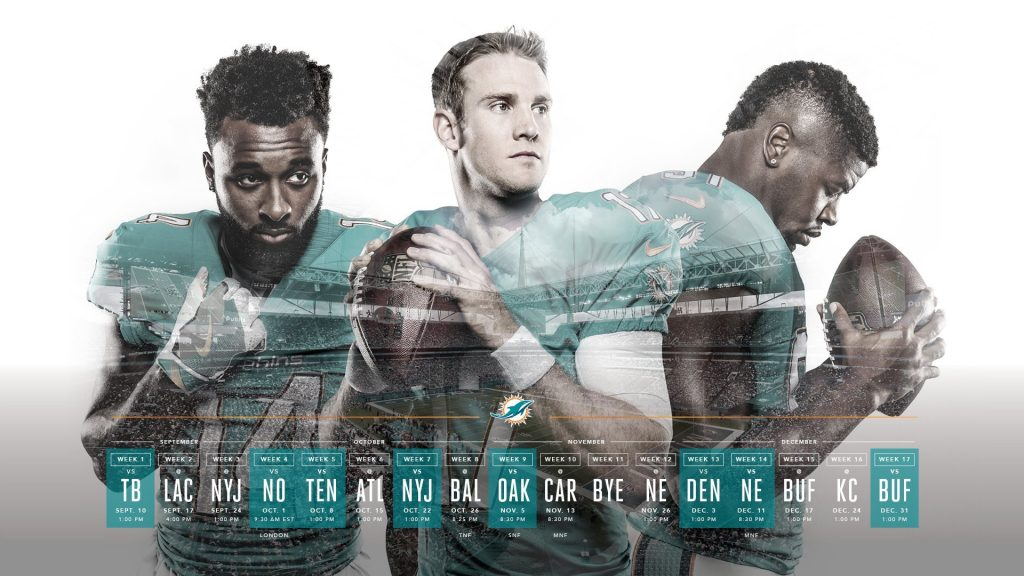 The Dolphins make me cry, Miami's 2017 schedule