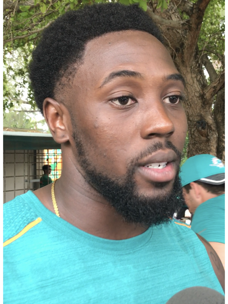 The Dolphins make me cry, Miami rookie Charles Harris is leading a rookie class on the field and in the community
