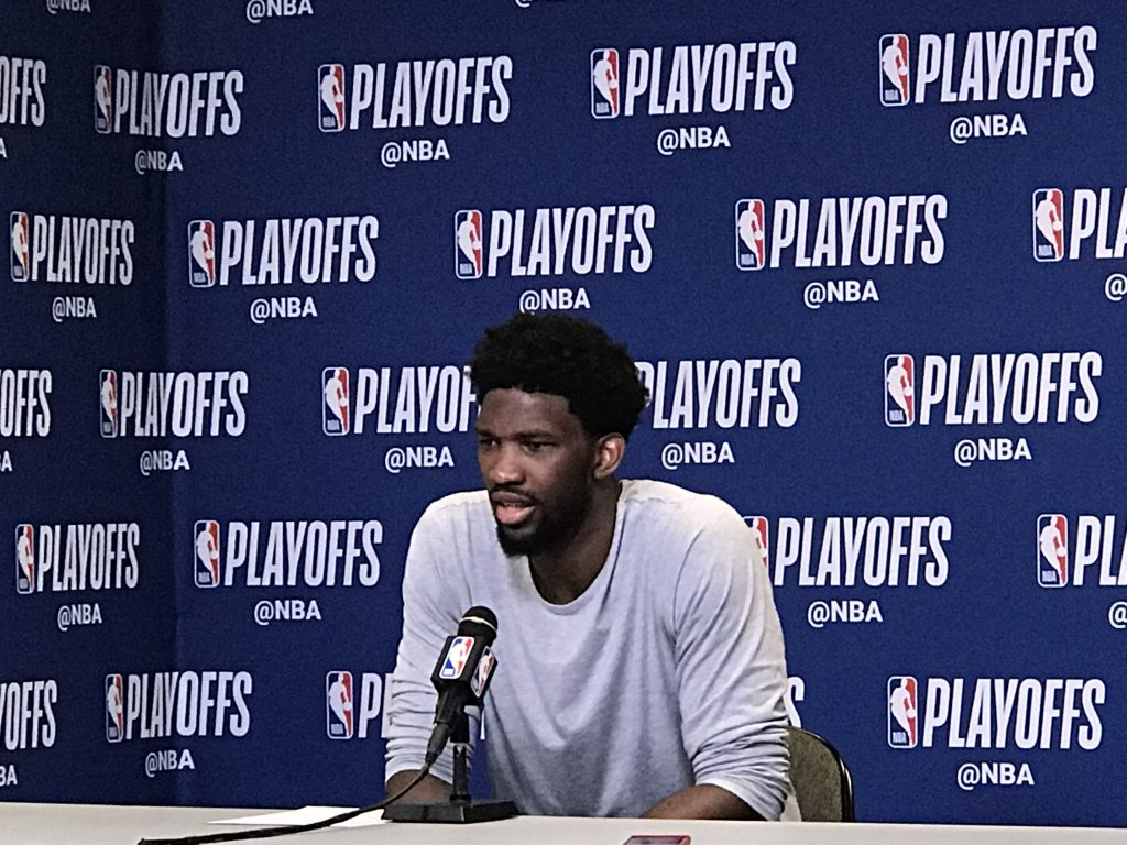 In the Heat of the moment, Game three featured Embiid in a mask and Winslow, no appearance by Whiteside or Wade for Miami
