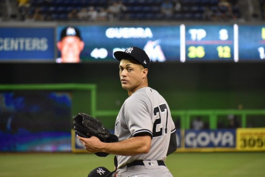 Gone fishing, Miami Marlins welcome Giancarlo Stanton back and split a two game home series