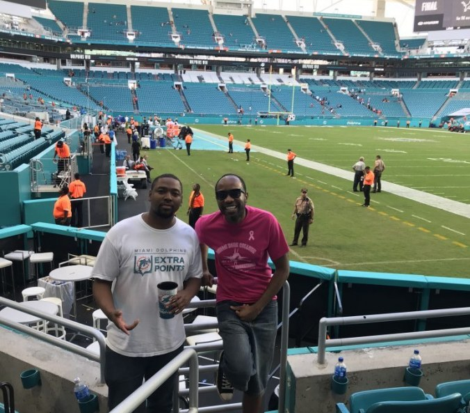The Dolphins make me cry, Miami's overtime win over the Chicago Bears, this young man will never forget