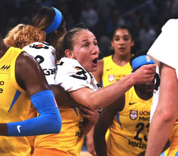 Courtney Vandersloot plays for the Chicago Sky, the sky's the limit on her improving