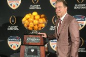 Nick Saban can break a tie with Bear Bryant for national titles and he's never sent a text message like Bryant