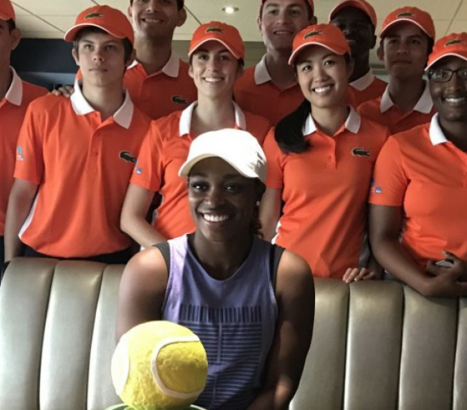 Sloane Stephens could not locate Hard Rock Stadium for the Miami Open