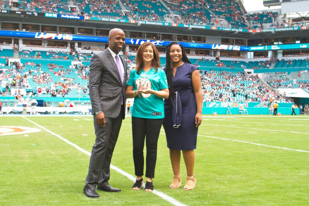 The Dolphins make me cry, Dolphins select Maria C. Alonso as the recipient of the NFL Hispanic Heritage Leadership Award
